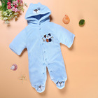Fashion Newborn Baby Girl Clothes 0-3 Months 6-12m Long Sleeve Bear Ear Unisex Baby Infant Girls Boys Footie Costume (335-453g)