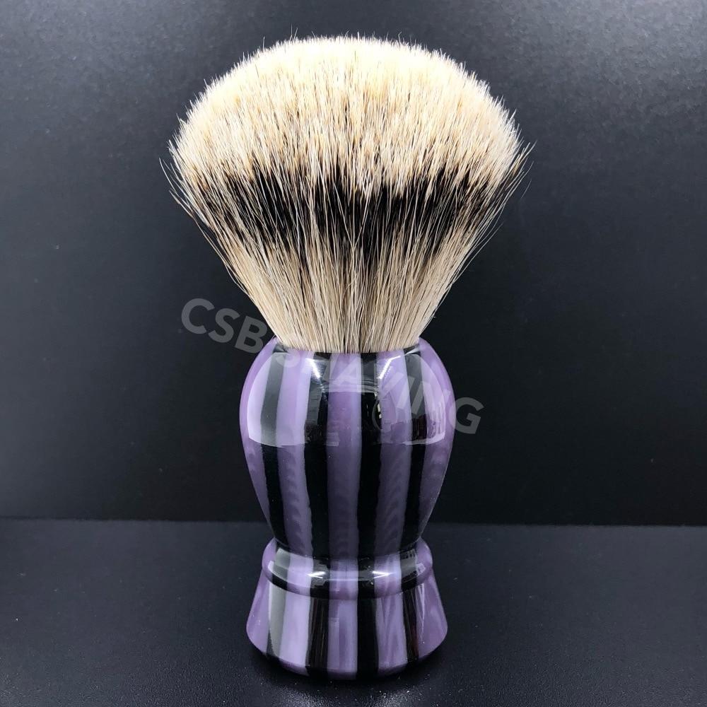 CSB Silvertip Badger Hair Shaving Brush Stripe Pattern Handle Barber Shop Salon Shave Wet Tool multi stripe pattern slit culottes