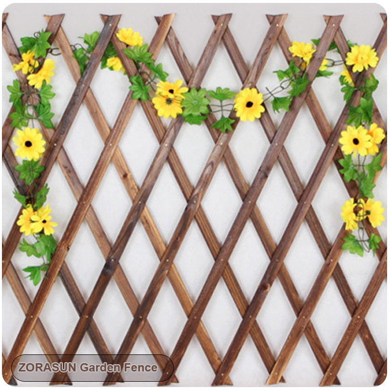 5Ft Expanding Wooden Garden Wall Fence Panel Plant Climb Trellis Support Decorative  Garden Fence For Home Yard Garden Decoration In Fencing, Trellis U0026 Gates ...