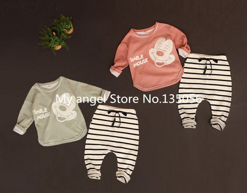 Retail 2016 New Summer style baby boy girl Minnie& mickey Sports fleece baby the spring and autumn period and the leisure suit 2017 summer new style baby girl boy first walkers breathable mesh soft sole hook
