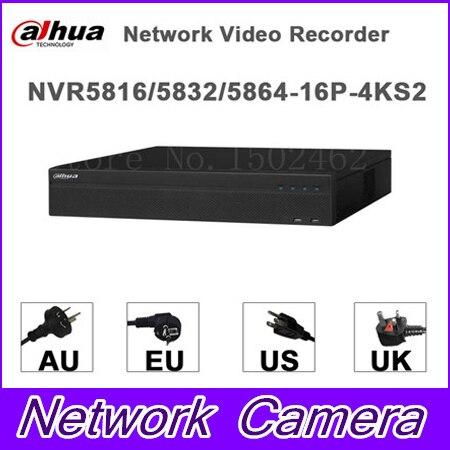 dahua p2p 4k nvr 4ch 8ch 16ch video recorder nvr4104hs 4ks2 nvr4108hs 4ks2 nvr4116hs 4ks2 h 265 8mp resolution Original egnlish version dahua NVR 16/32/64CH Network Video Recorder NVR5816-16P-4KS2 NVR5832-16P-4KS2 NVR5864-16P-4KS2