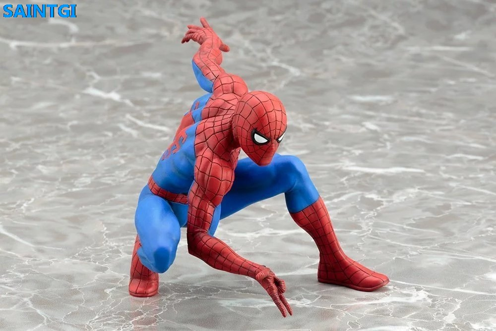 SAINTGI Spider-Man Marvel Super Heroes PVC 12CM Action Figure Collection Model ARTFX+ Toys Dolls карандаши spider man 12 цветов