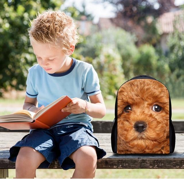 Fashion Children School Bags Cute Pet Cat Dog Schoolbag For Boys Small 3D Animals Backpack Kid Kindergarten Bag Mochila Infantil