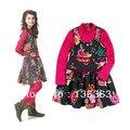 Catimini девочка платье осень дети длинная - рукав осень платье маленькая черепаха шея длинный рукав платье