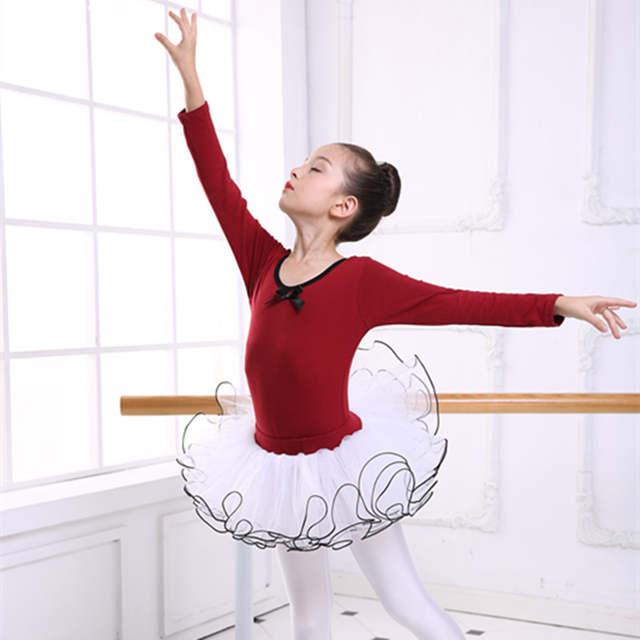 26be44cbd Online Shop New Girls Ballet Leotard Tutu Dress Cotton Split Long ...