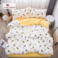SlowDream ананас Постельное белье Nordic одеяло покрывало набор для двуспальной кровати комплект пододеяльник для двуспальной кровати King взрослы...