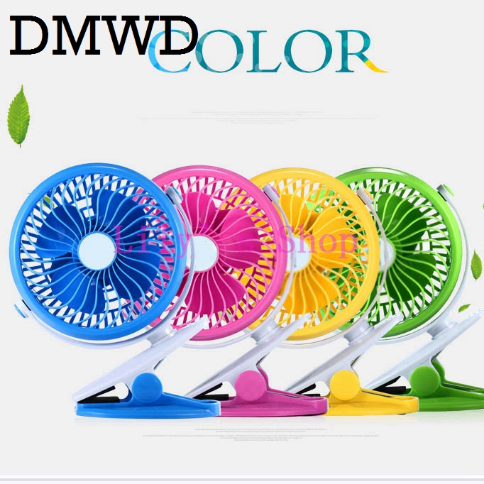 DMWD 6 inch USB clip-on conditioning Fan Portable MINI rechargeable desktop Air conditioner cooling fans clip 360 degree Rotate