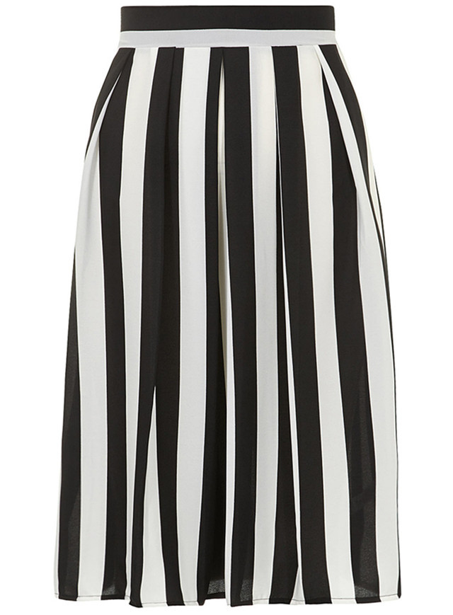 4ac677b7249f0 Customize Summer Style Womens Fashion Casual Plus Size 3XS-9XL Black White  Stripe skirt Midi