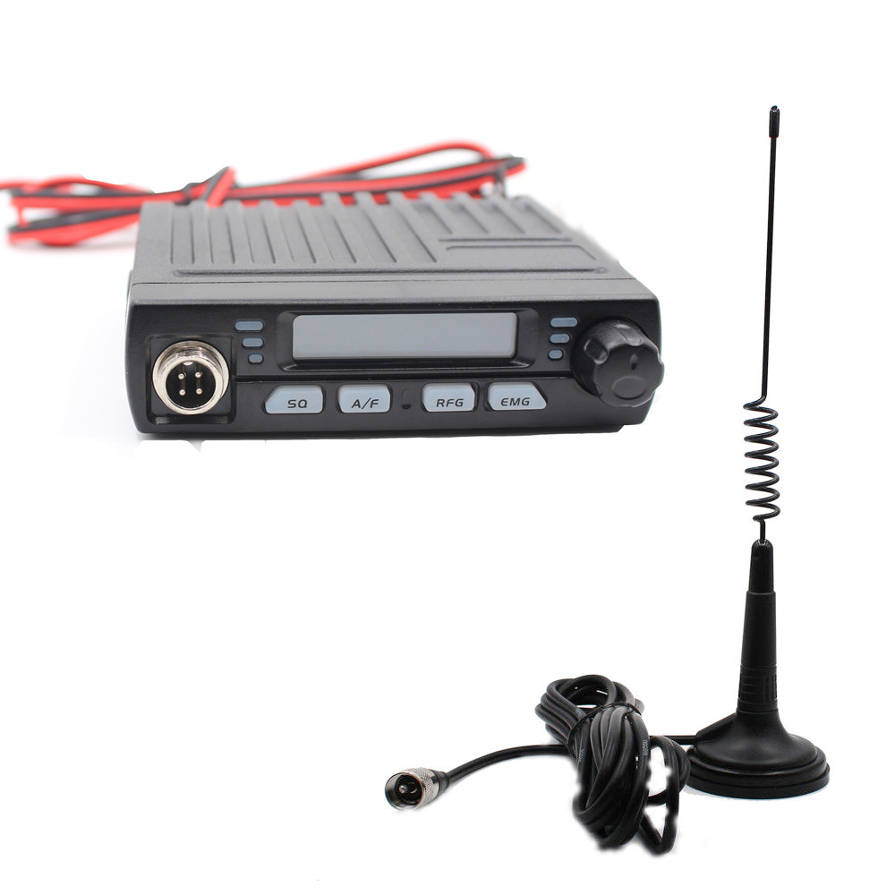 AC-001 Ultra Compact AM/FM Mini Mobie 8W CB Radio 26MHz 27MHz 10 Meter Amateur Mobile Radio Albrecht AE-6110 Citizen Band Radio