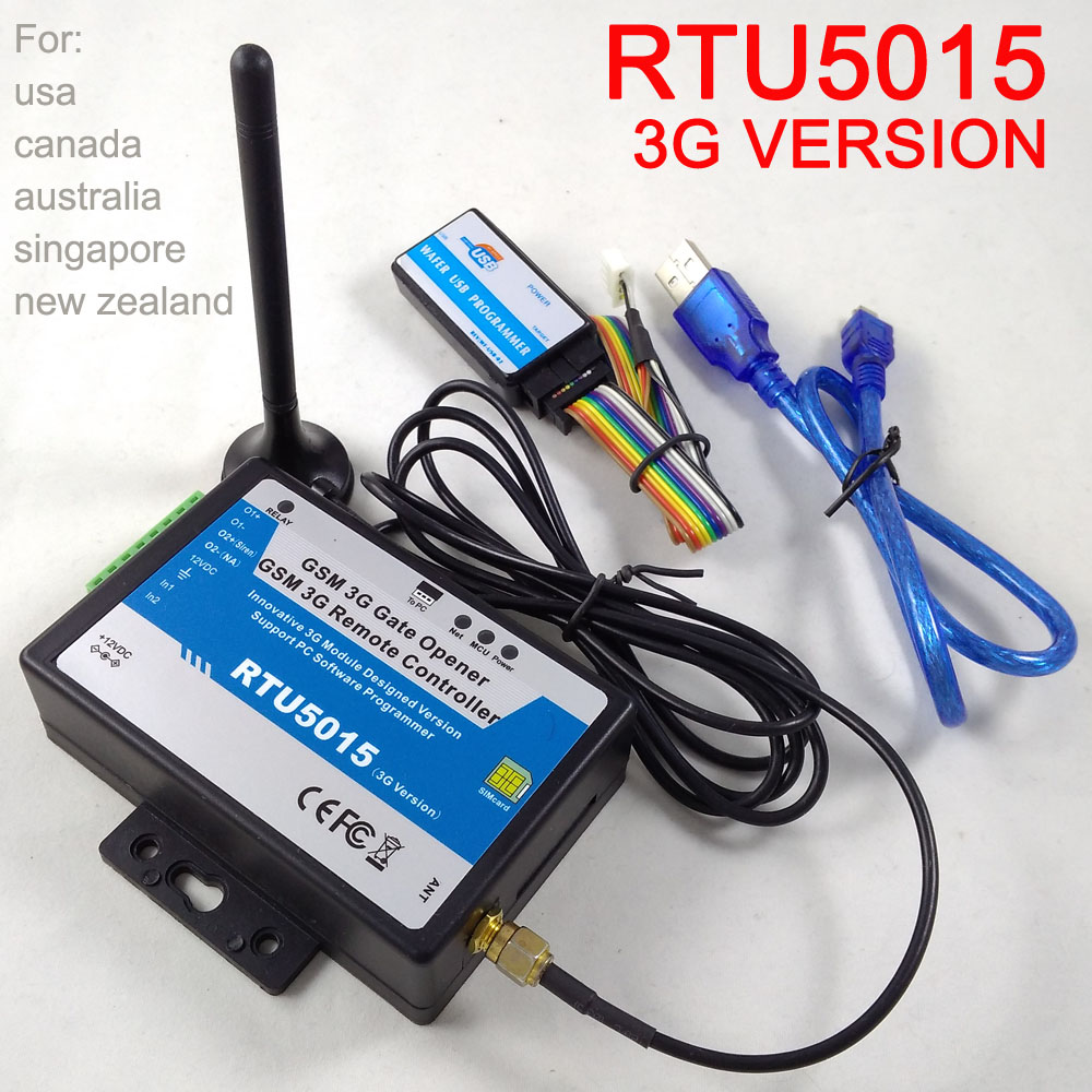 RTU5015 3G Version GSM Gate Opener Door Operator With SMS Remote Control  Alarm Free Shipping New Version 2019 Version