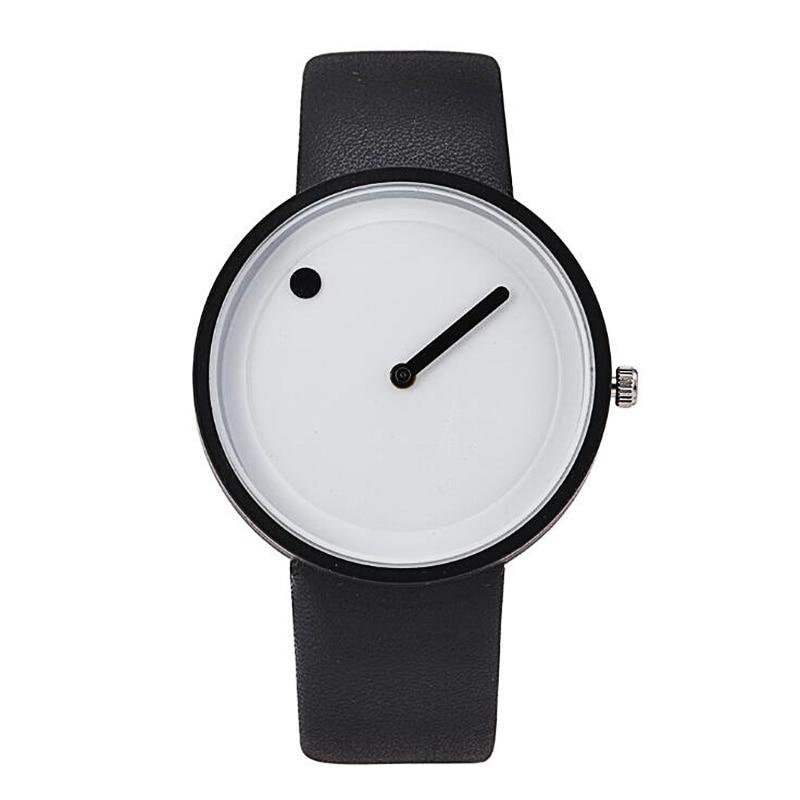 Top Brand Creative Quartz Watch Men Luxury Casual Black Japan Quartz-watch Simple Designer Fashion Clock Male Buckle