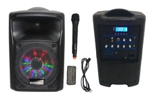 "STARAUDIO Professional eight"" PA DJ 800W Rechargeable Battery Speaker W/ UHF Microphone LED Lighting SBM-8RGB"