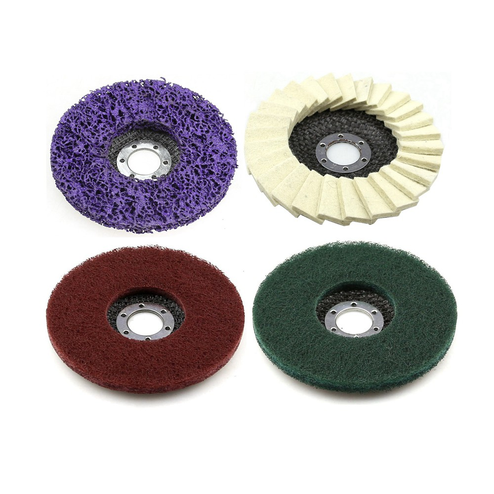 4 Pieces Bulgarian 125 Angle Grinder Tools For Metal Coarse Grinding To Fine Polishing Flap Discs Set
