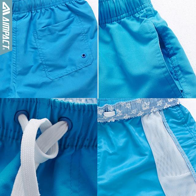 Aimpact 2Pcs/Lot Quick Drying Men's Board Shorts Sexy Beachsurf Men's Jogger Short Fashion Sexy Home Shorts for Men Trunks 2PF55