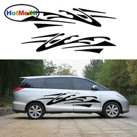 HotMeiNi 2 X Abstract Stripe Impressionist Art Stripes Chaos Traces of Car Sticker for Camper Van Truck Car body Decal 200*35 cm