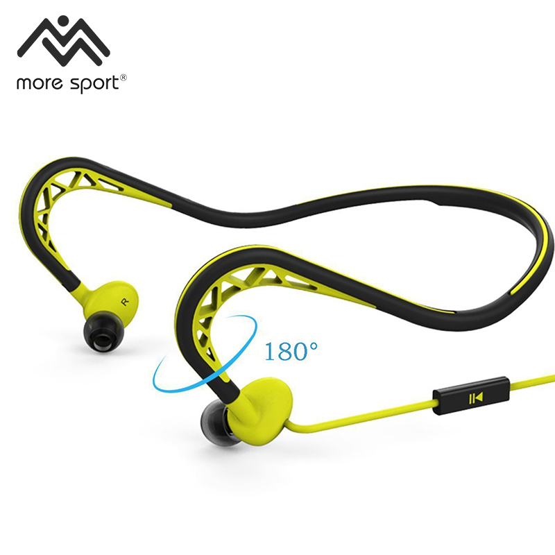 Free Shipping New Neckband Sports Earphones Waterproof Headphones Stereo Headset
