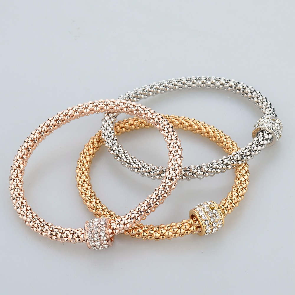 LongWay 2017 Wedding Gold Color Bracelets Bangles Bracelet for