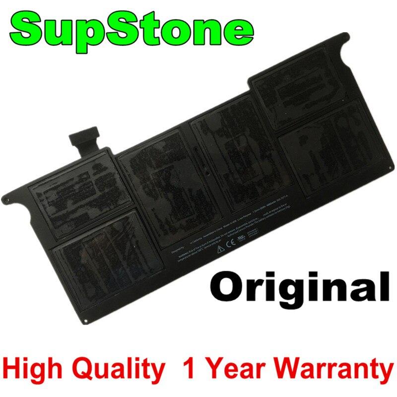 Оригинальный OEM Аккумулятор SupStone A1406 A1495 для APPLE Macbook Air, 11 дюймов, A1465, Mid 2012, 2013, Ранняя коллекция 2014, A1370, Mid 2011, MC968LL/A