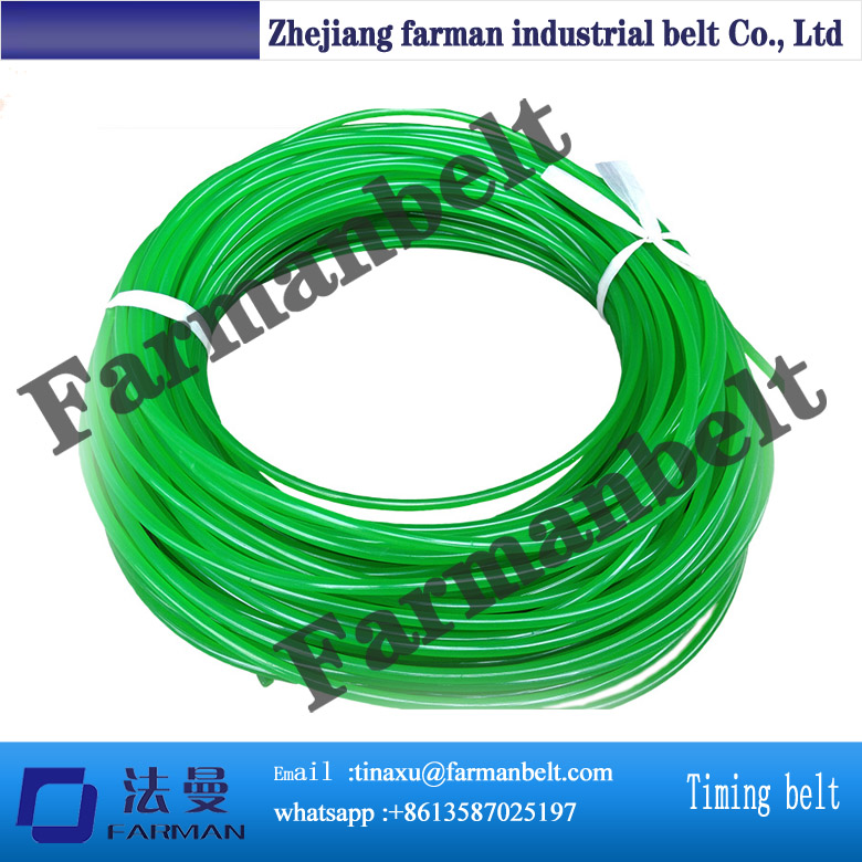 PU rough green round belt, 2mm,3mm,4mm,5mm,6mm,7mm,8mm,9mm,10mm,12mm,15mm,18mm green orange transparent pu round belt polyurethane drive belt smooth and rough surface for sale