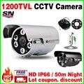 Реал 1/3 cmos 1200TVL CCTV HD Камеры Видеонаблюдения Открытый Водонепроницаемый Ip66 Ик IRCUT Ночного Видения 50 М аналоговый видео cvbs