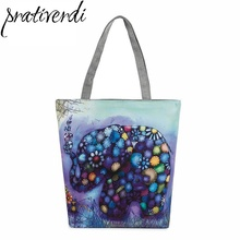 New Variety Design Printed Canvas Tote Female Single Shopping Bags Large Capacity Summer Beach Bag High Quality Material