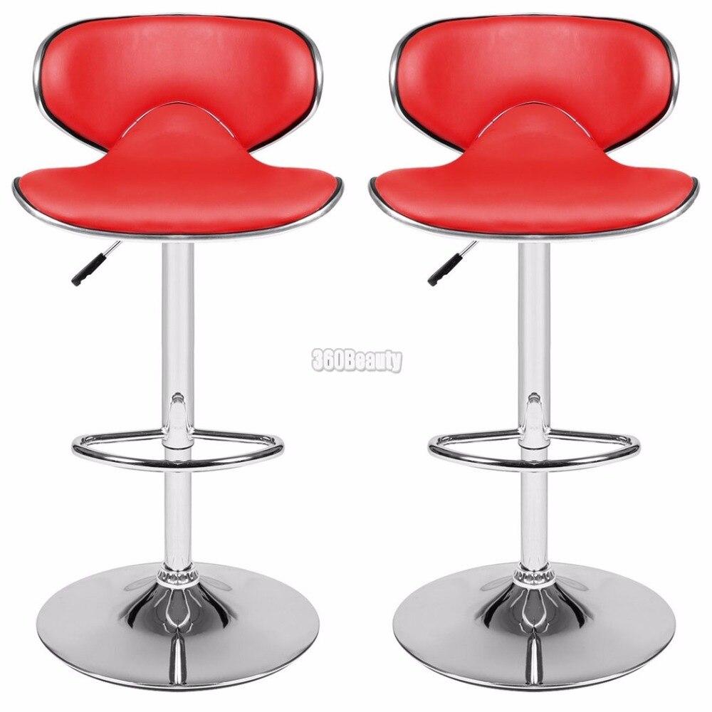 Homdox 1 пара 360 градусов поворотный стул барный Искусственная кожа Кухня завтрак барный стул Chrome Подставки регулируемый подъем стул N30 *