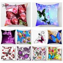 Fuwatacchi 3D Elegant Butterfly Print  Cushion Cover Animal Painting Sofa Car Chair Home Decor Pillows Throw Pillow Case