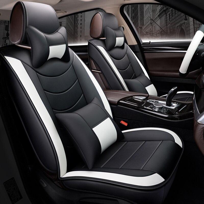 LCRTDS housse de siège de voiture en cuir pour mitsubishi lancer 9 10 x ix outlander 3 xl de 2010 2009 2008 2007
