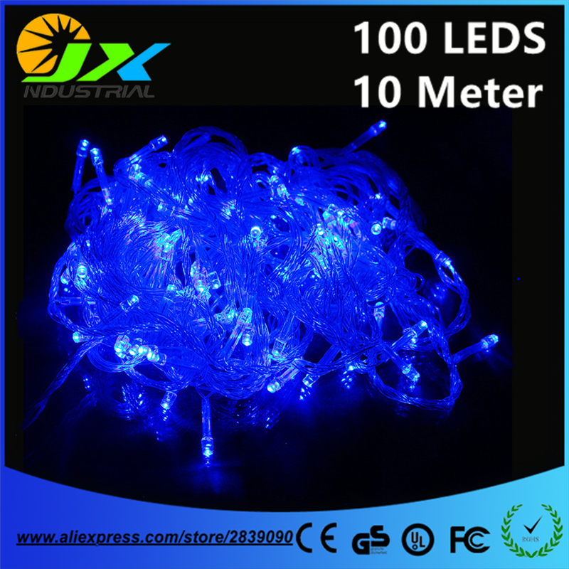 JXY003 10m 100Led Waterproof 110V/220V LED Holiday String Lights For Christmas Festival Party Fairy Colorful Xmas LED Lights