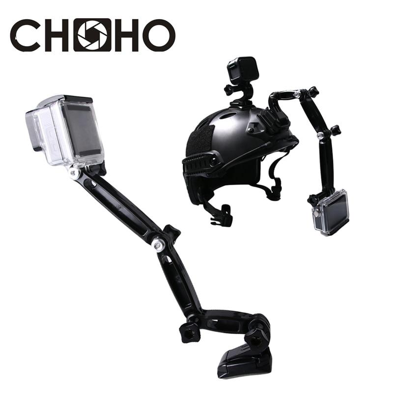 3 2 1 Casco de rotación de 360 grados base de montaje de brazo con palo de 3 M para GoPro Hero 3