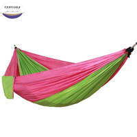 Outdoor Portable Backpack Rope Swing Hammock Light Weight Nylon Fabric for Garden Picnic Leisure Travel Camping Furniture
