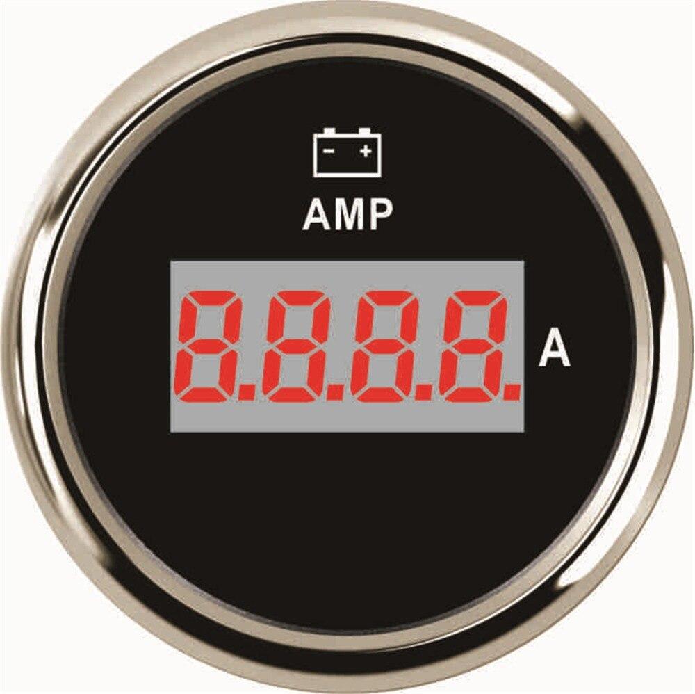 Paquete de 1 52mm Digital Ampere metros amperímetros 0-150A 9-32 V Amp metros LCD resistente al agua con retroiluminación para Auto camión barco