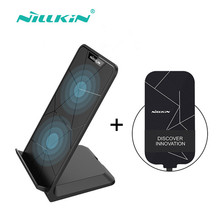 Nillkin 10W Qi fast Wireless Charger stand quick charger dock portable+receiver for iPhone for Samsung for Huawei for xiaomi