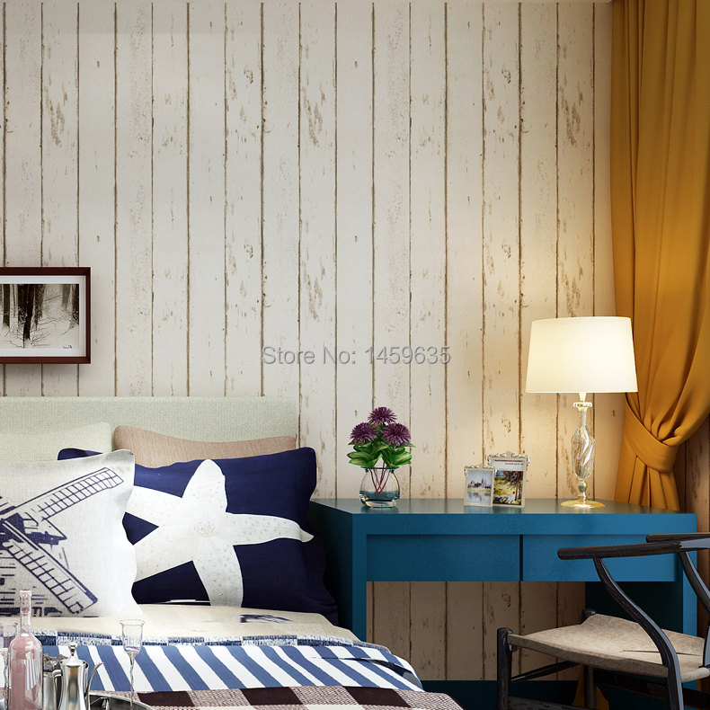 Mediterranean non-woven wallpaper American retro imitation wood bedroom living room sofa TV background Wallpaper 2016 new selling non woven wallpaper south east asia imitation embroidery american birds and flowers bedroom tv porch wallpaper