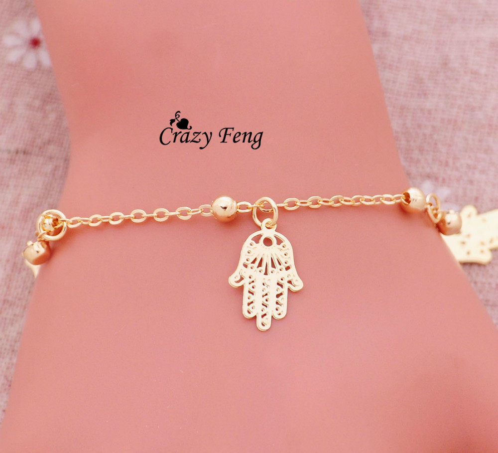 Free shipping  hot selling popular women 18K yellow gold plated loom bracelets