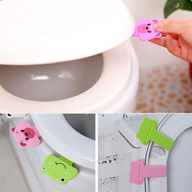 Perfect Family Necessary Portable cute Cartoon toilet Uncovery Clamshell device