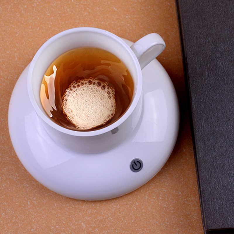 Taza de cerámica Vortexes para beber, Cargador USB, posavasos de mezcla automática, agitador magnético para oficina, café, café, té, taza inteligente