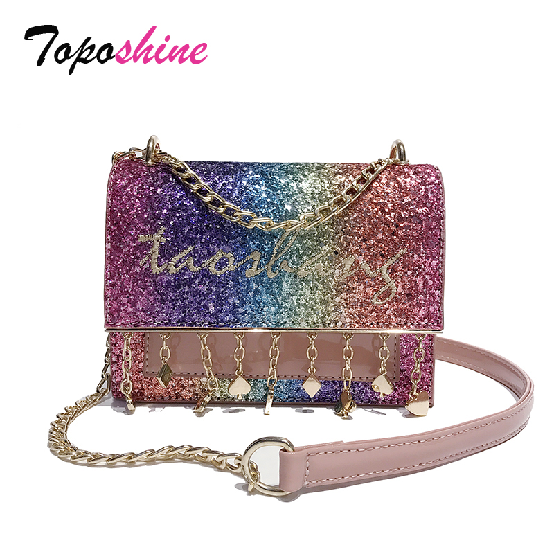 New Korean Version of the Simple Casual Bag Female Fashion Wild Small Package Personalized Chain Shoulder Messenger Bag Tide clasp shiny crystal shell handbags korean version of the new fashion personality wild casual shoulder messenger bag