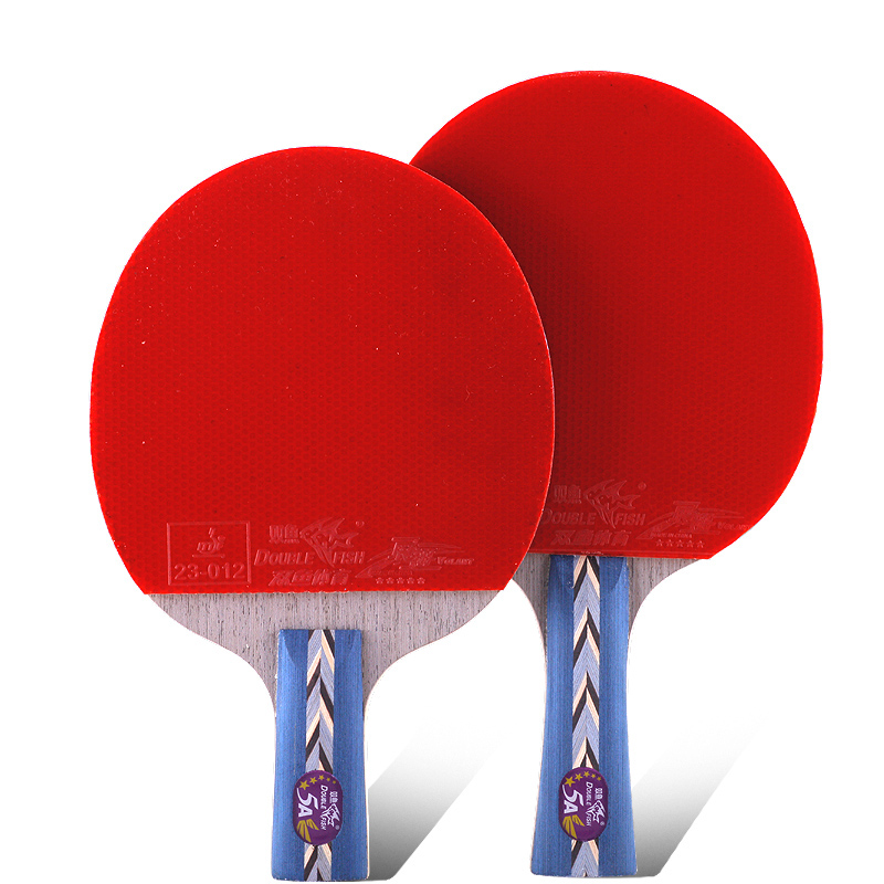 Original Double fish 5stars 5A table tennis rackets racquet bat sports wood blade fast attack loop for amateur entertain players