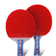цена на Original Double fish 5stars 5A table tennis rackets racquet bat sports wood blade fast attack loop for amateur entertain players