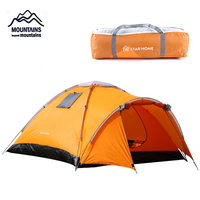 MOUNTAINS Camping Tent 4 Persons Outdoor Waterproof Tent Double Layer Hiking Tent Ultralight Travel