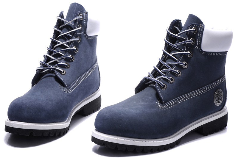 Original TIMBERLAND Man 10061 Blue Winter Ankle Boots,Men Timber Silver Metal Genuine Leather Outdoor Warm Durable Shoes 40-45 3