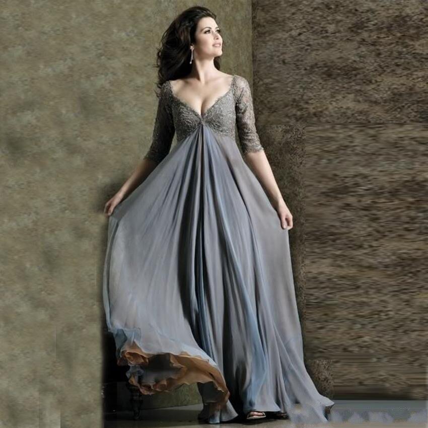 vestidos Plus Size Evening Gowns Chiffon robe de soiree Vestido De Festa Longo Prom Gown abiye