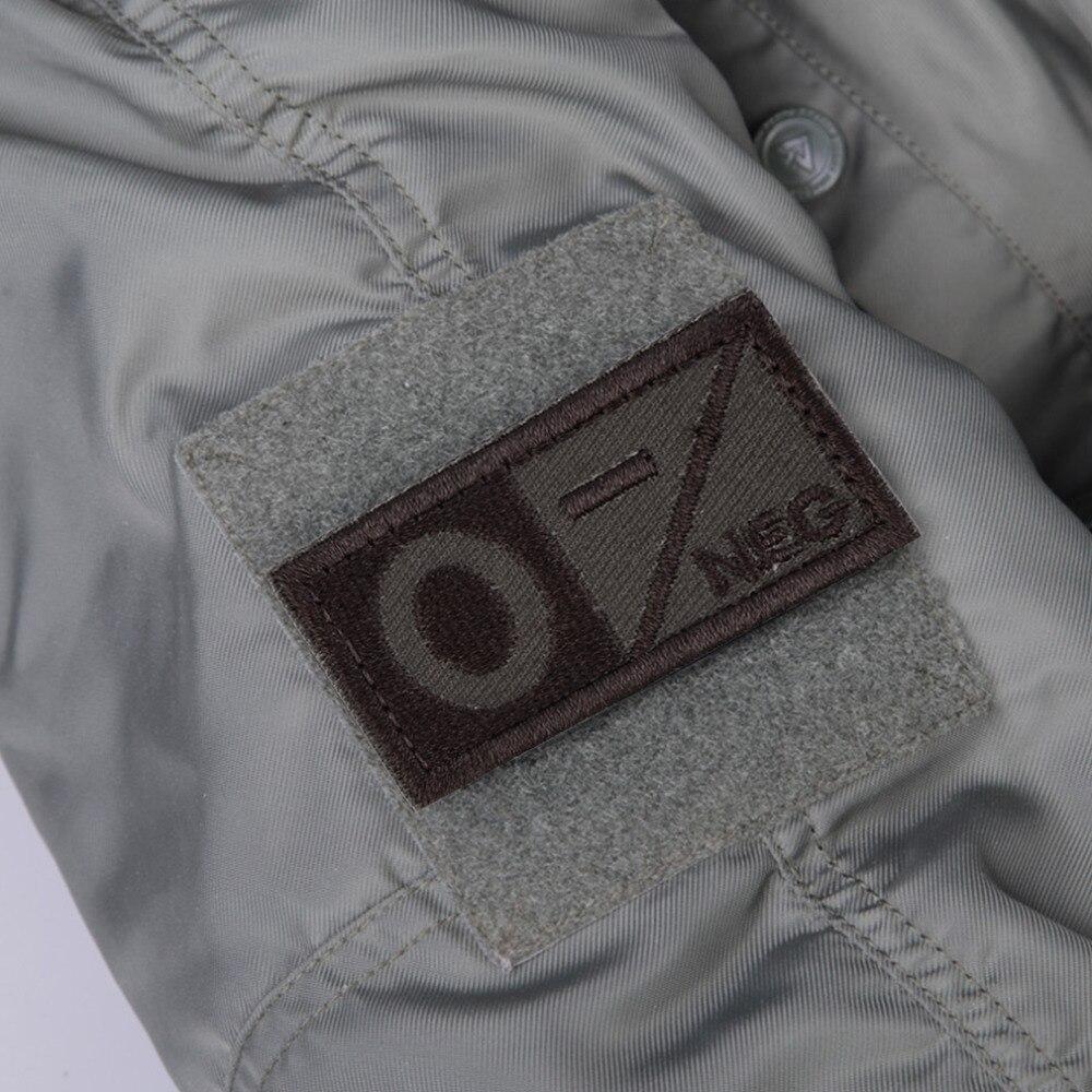 2017 Fashion 3D Blood Type Badge A B AB O POS NEG Coyote Tan OD Green Badge O Negative Hotsale