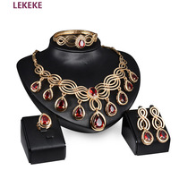3 pieces Retro style royal palace party big wedding necklace + earrings + Bracelets Women jewelry sets girlfriend gift