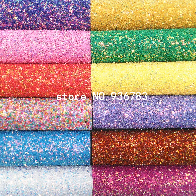1PCS A4 SIZE 21X29cm  Synthetic Leather,  Chunky Glitter Leather For Bow DIY  Handbags Shoes  MK069B