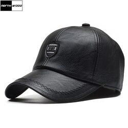 [NORTHWOOD] зимняя бейсбольная Кепка из искусственной кожи, мужская Кепка-ушанка, кепка, мужская Кепка, высокое качество, Gorras Para Hombre, регулируемая