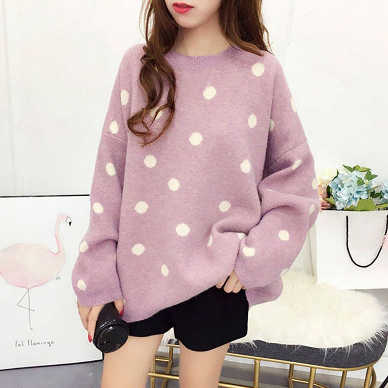 Women Sweaters New Sweet Loose Korean Version Knitted Sweater Autumn Winter Wear 2018