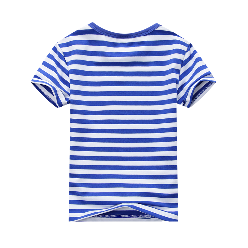 0d99a443c0c Summer Fashion Marine Style Boys Girls Striped T shirt Active Cotton  Children T shirt Soft Red Blue Black with White Striped-in T-Shirts from  Mother   Kids ...