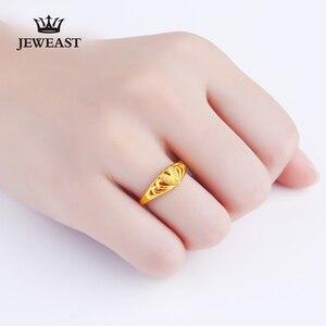 Image 5 - JLZB 24K czystego złota pierścień prawdziwe AU 999 czyste złoto pierścionki eleganckie błyszczące serce piękne ekskluzywne Trendy biżuteria Hot sprzedam nowy 2020
